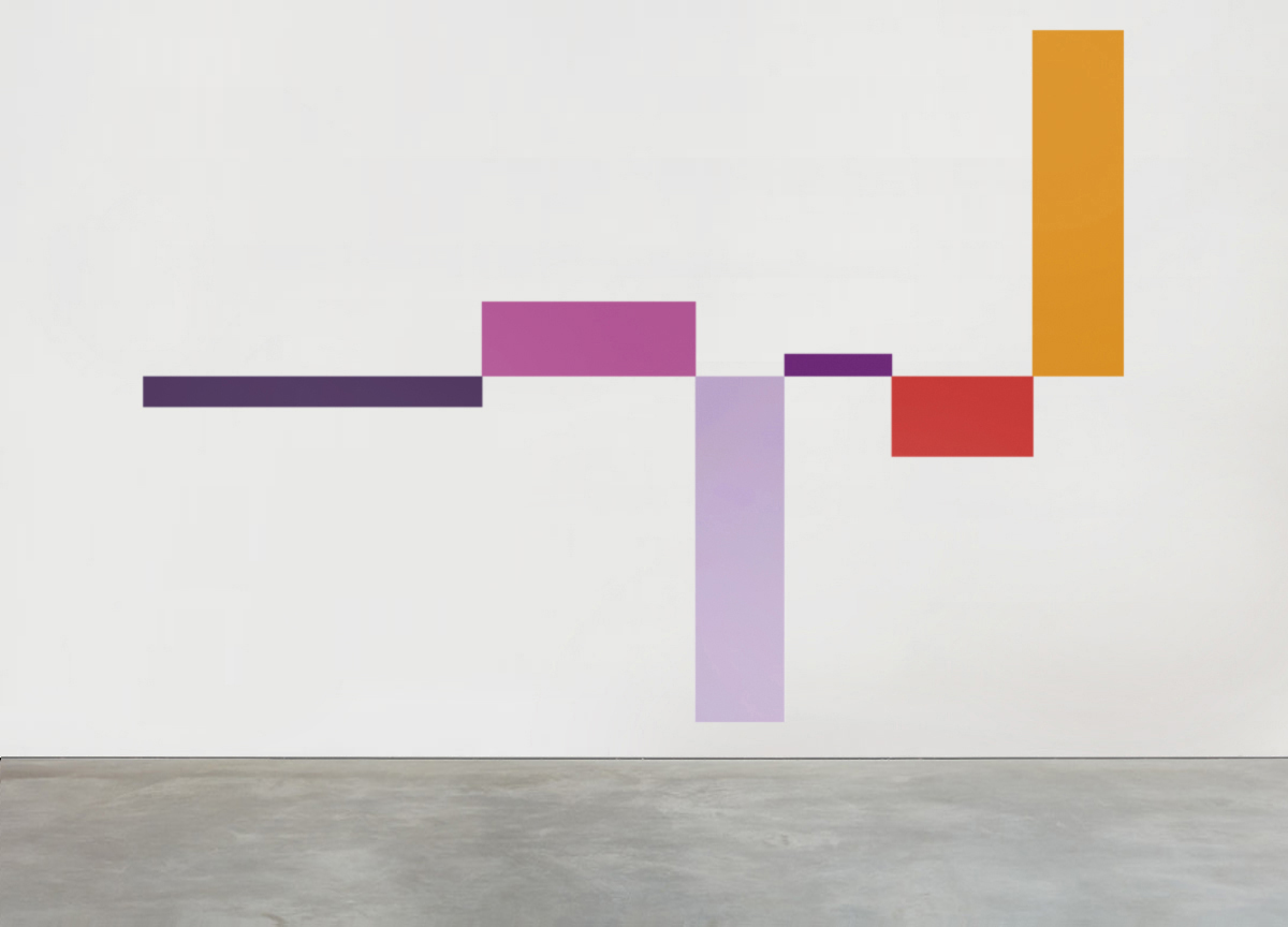 alternating rhythm, 2016 wall painting, various dimensions