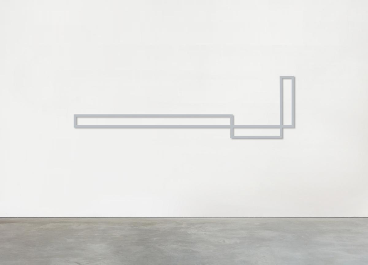 alternating rhythm, 2018 aluminium block, various dimensions