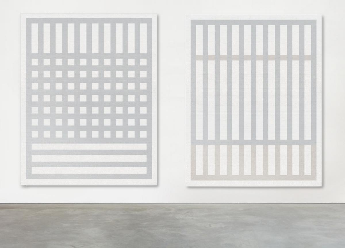 quadrato verticale, 2018 acrylic on canvas,163 X 130 cm