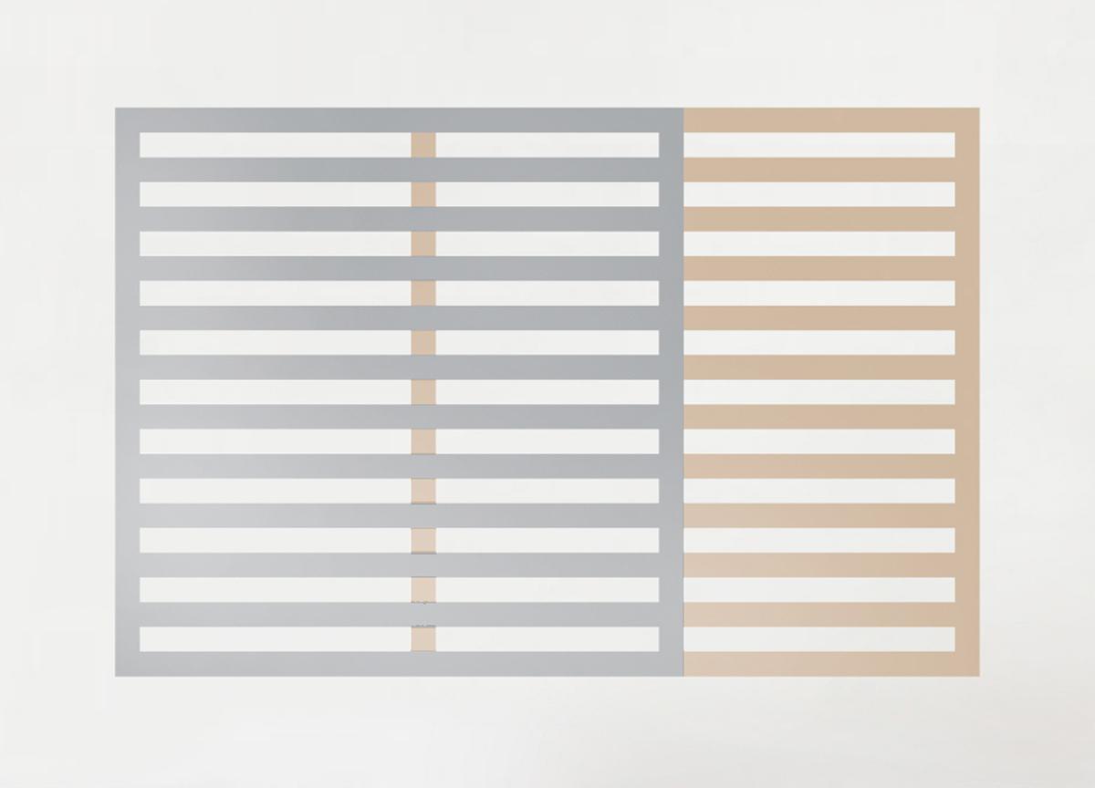 quadrato orizzontale, 2018 pvc tape on wall, various dimensions