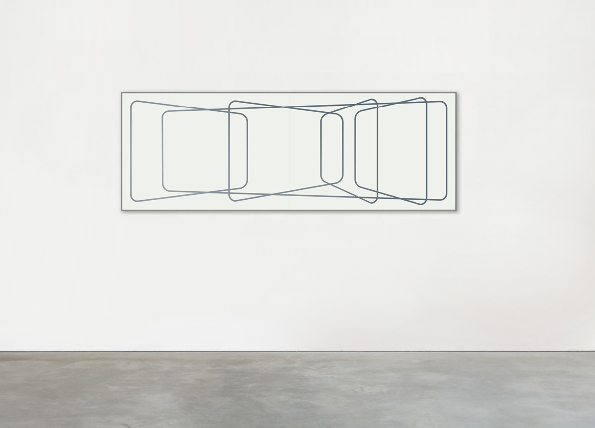 macguffin, 2017 wax crayon on paper, 72 X 206 cm