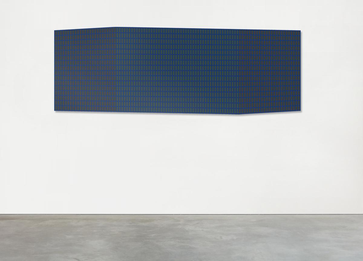shape 01, 2021 mixed media on canvas, 100 X 281 cm